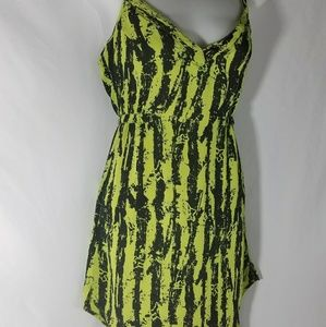 Neon Yellow and Black Fox Racing Dress Size XS